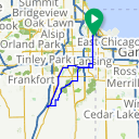 Map image of a Route from August 15, 2014