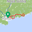 Map image of a Route from August 17, 2014