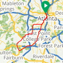 Map image of a Route from August 20, 2014