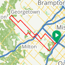 Map image of a Route from August 21, 2014