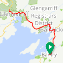 Map image of a Route from August 22, 2014