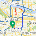 Map image of a Route from September 26, 2014
