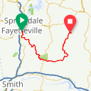 Map image of a Route from September 27, 2014