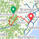 Map image of a Route from October  9, 2014