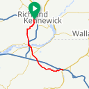 Map image of a Route from October 14, 2014