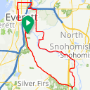 Map image of a Route from October 15, 2014