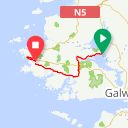 Map image of a Route from October 28, 2014