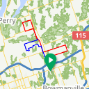 Map image of a Route from November 10, 2014