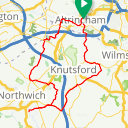 Map image of a Route from November 22, 2014