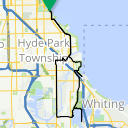 Map image of a Route from November 23, 2014