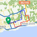 Map image of a Route from December  1, 2014