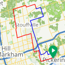 Map image of a Route from December  3, 2014