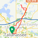Map image of a Route from August 22, 2011