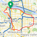 Map image of a Route from December  7, 2014