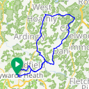 Map image of a Route from December 21, 2014