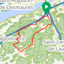 Map image of a Route from January 11, 2015