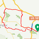 Map image of a Route from January 12, 2015