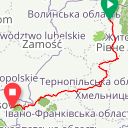 Map image of a Route from January 13, 2015