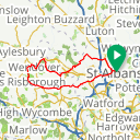 Map image of a Route from January 22, 2015