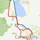 Map image of a Route from January 26, 2015