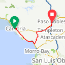 Map image of a Route from January 27, 2015