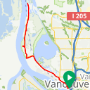 Map image of a Route from January 30, 2015