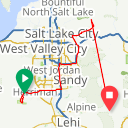 Map image of a Route from February 12, 2015