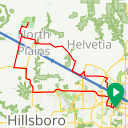 Map image of a Route from February 19, 2015