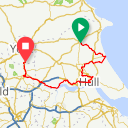 Map image of a Route from February 24, 2015