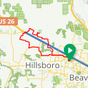 Map image of a Route from March  8, 2015