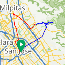 Map image of a Route from March  9, 2015