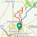 Map image of a Route from March 15, 2015