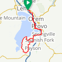Map image of a Route from March 20, 2015
