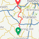 Map image of a Route from March 21, 2015