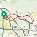 Map image of a Route from April  2, 2015
