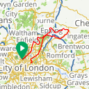 Map image of a Route from April  4, 2015