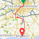Map image of a Route from April  8, 2015