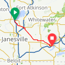 Map image of a Route from April 26, 2015