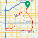 Map image of a Route from April 30, 2015