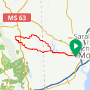 Map image of a Route from May  5, 2015
