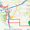 Map image of a Route from May  6, 2015