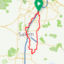 Map image of a Route from May  8, 2015
