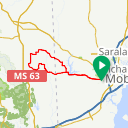 Map image of a Route from May 12, 2015