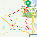 Map image of a Route from May 16, 2015