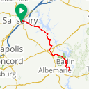 Map image of a Route from May 18, 2015
