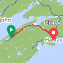 Map image of a Route from May 19, 2015