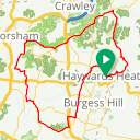 Map image of a Route from May 23, 2015