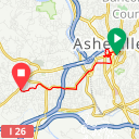 Map image of a Route from May 26, 2015