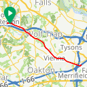 Map image of a Route from June  6, 2015
