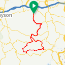 Map image of a Route from June  7, 2015